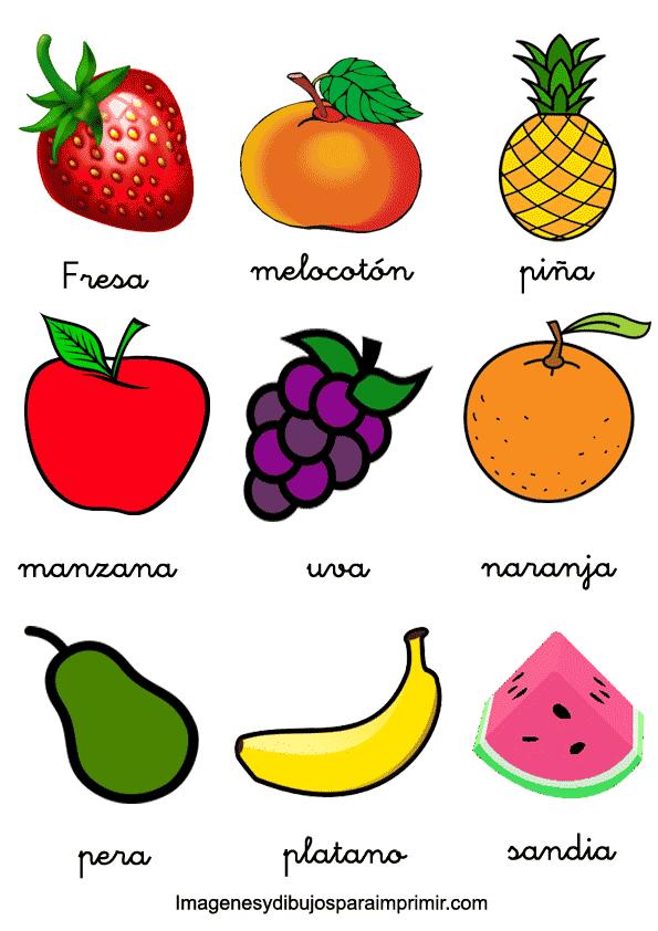 memorama de frutas y verduras para imprimir
