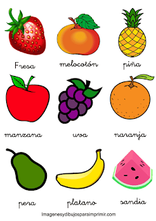 Memorama de frutas