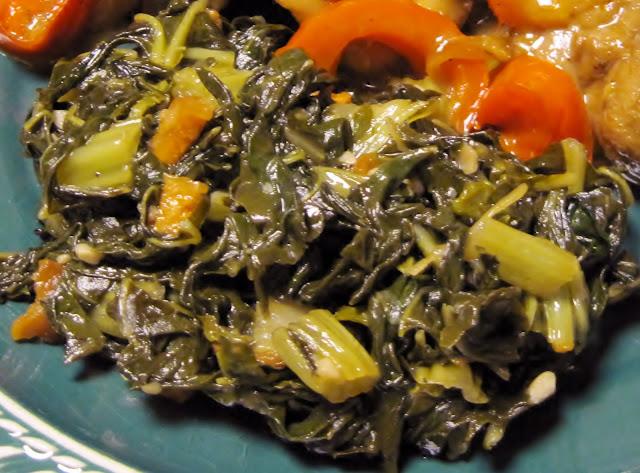vitamin greens vitaminna with fatback & garlic