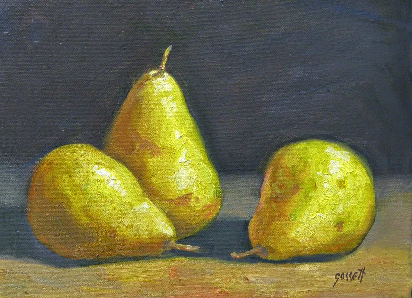 """Pear Trio"" by Warren - for sale on eBay - click on image"
