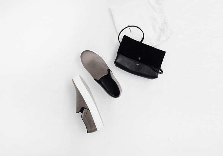 Mija Céline slip-on sneakers, Céline bag