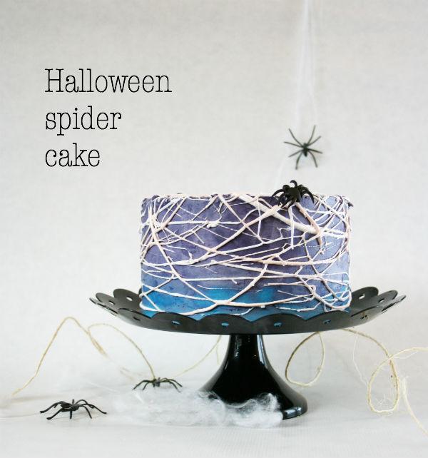 HALLOWEENIN HÄMÄHÄKKIKAKKU - HALLOWEEN SPIDER CAKE
