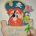 Pirata y pergamino con anuncio personalizable