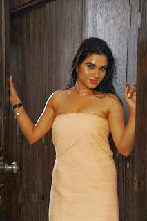 Kavya Singh Hot Boobs Expose in Towel at Bathroom