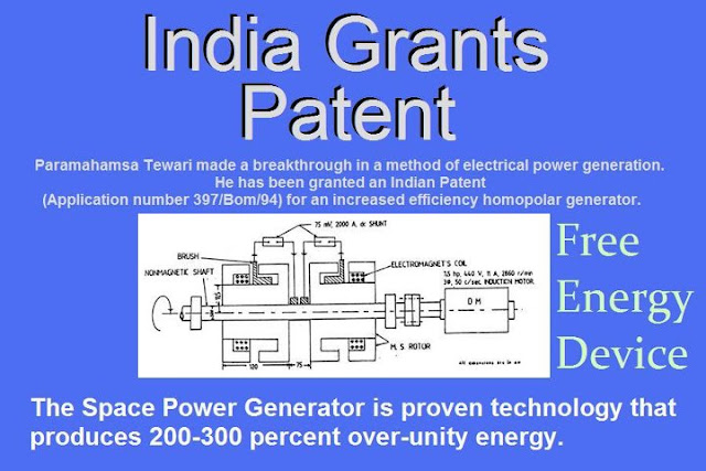 ... India, is the first Indian to get a Free Energy device patented. An