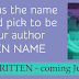What's Your Pen Name? + Unwritten Goodies & Giveaway