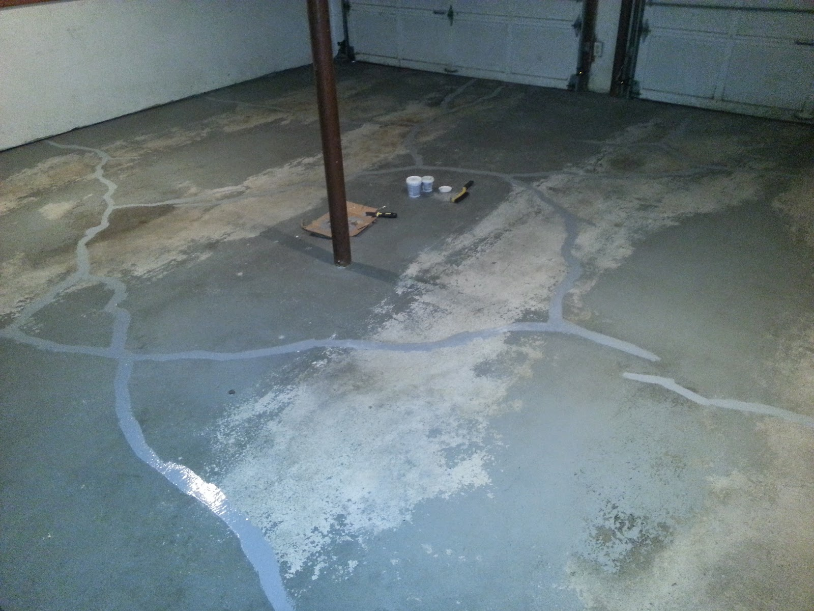 Concrete Filler on Garage Floor
