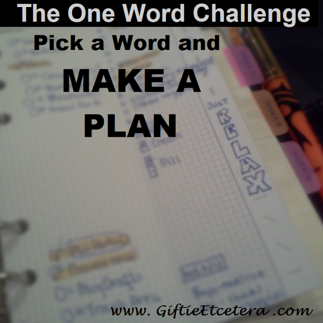 plan, one word, relax, planner pages