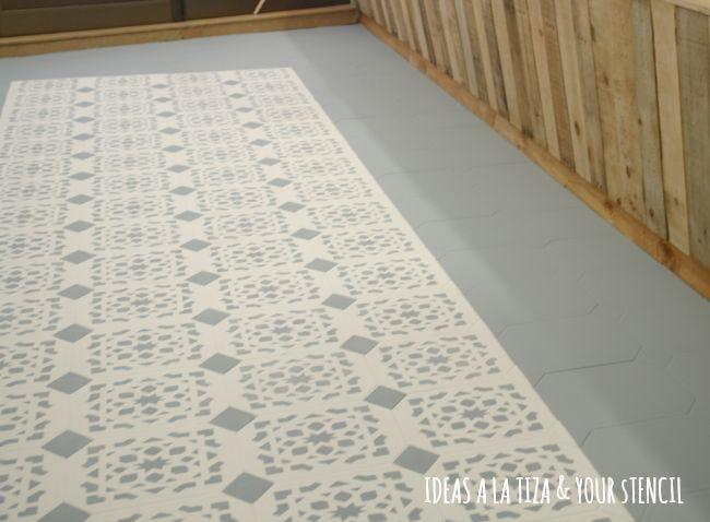 Ideas a la tiza suelo pintado con chalk paint - Azulejos para el suelo ...