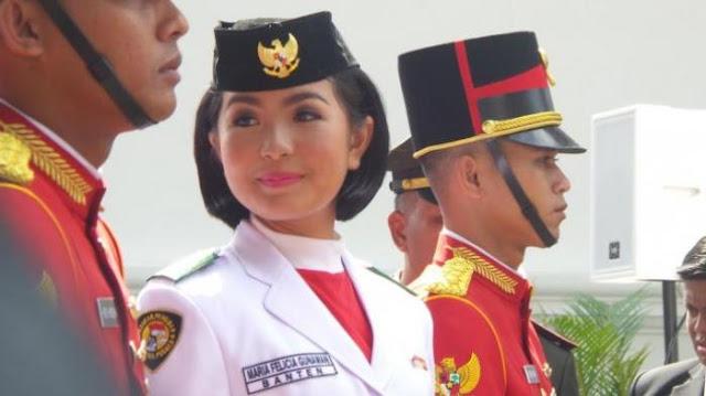 Maria Felicia pembawa BAKI Upacara HUT RI dihina karena keturunan Tionghoa
