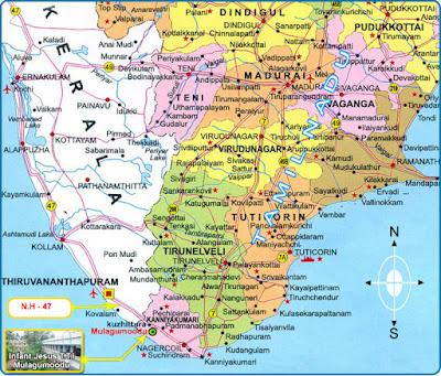 Kanyakumari Map