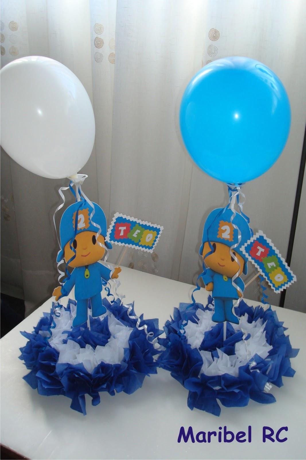 Detalles personalizadas fiesta pocoyo for Mesa para manualidades