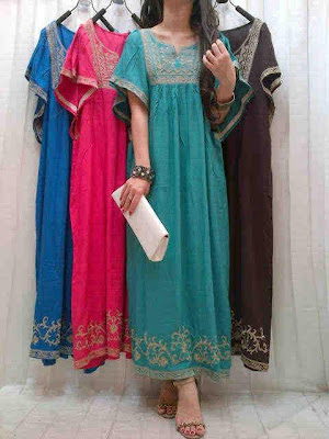 Maxi Dress Rayon Bordir Kode SR 381