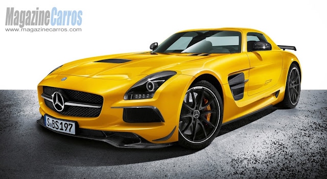 Frente do novo Mercedes-Benz SLS AMG Black Series 2014