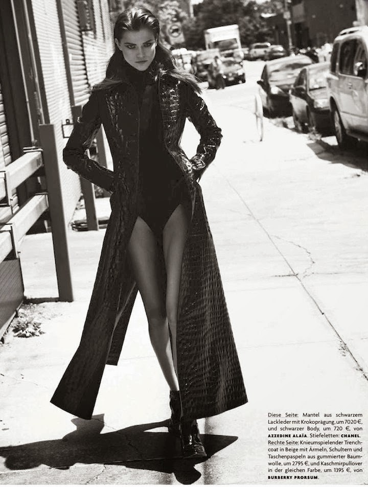 kasia struss in alaïa + burberry, vogue germany september 2013