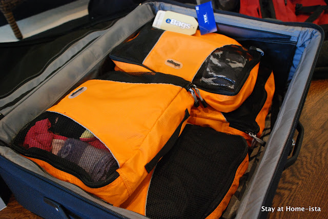 Efficient packing for a trip with kids using ebags