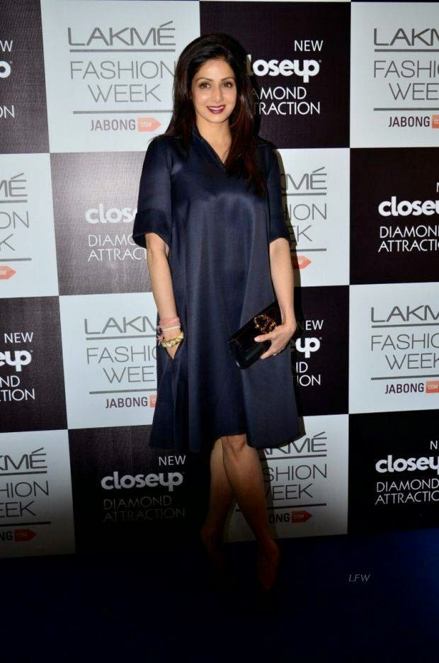 Sridevi Kapoor At Lakme Grand Finale 2014
