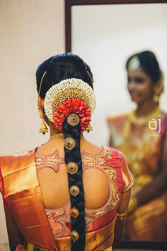 Tamil Brides Wedding Hairstyle