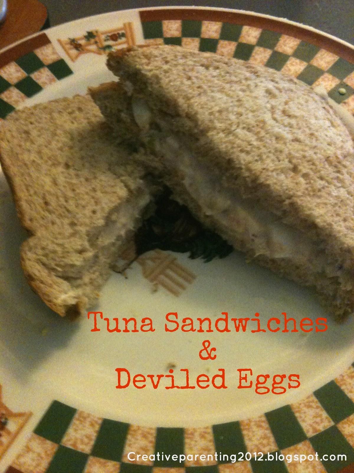 Creative Parenting: Recipe: Tuna Sandwiches and Deviled Eggs