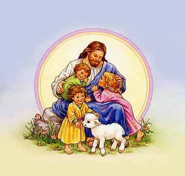 CGSJ (Come Get Some Jesus): Christ with little children