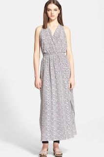 Hunter Bell 'Gloria' Print Silk Crêpe de Chine Maxi Dress