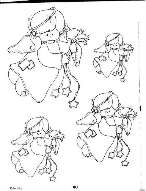 dibujos para colorear de ngeles para imprimir