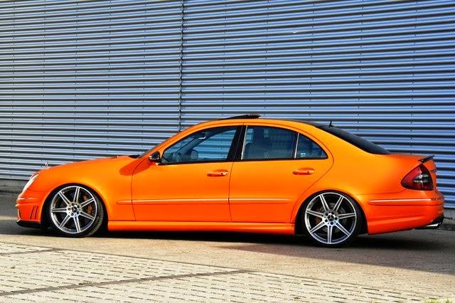 Mercedes benz w211 e55 amg orange matte benztuning for Mercedes benz orange