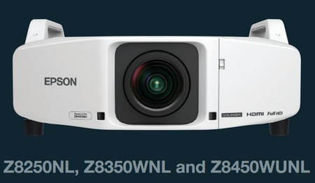 Epson PowerLite Pro Z8450WUNL Z8350WNL Z8250NLInstallation Projectors Epson PowerLite Pro Z Series Installation Projector Line has 5 new models