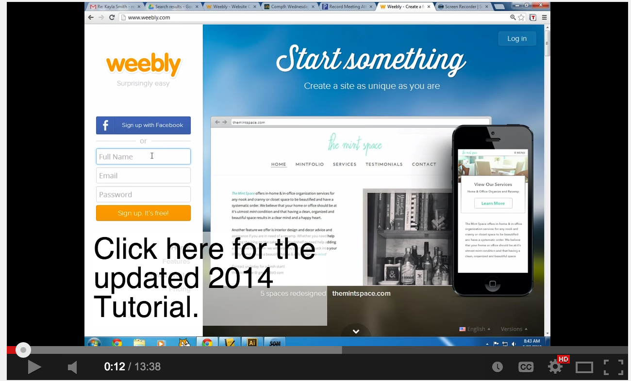 Video Tutorials to Help You Create A Classroom Website Using ...