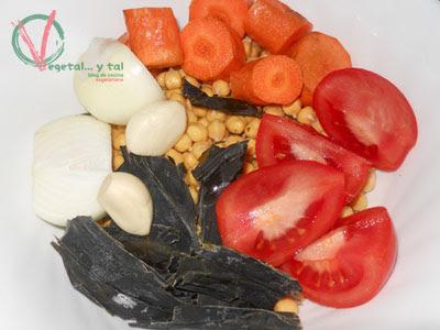Vegetales del potaje.