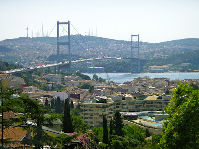 Crossing Bosphorus Bridge from Istanbul