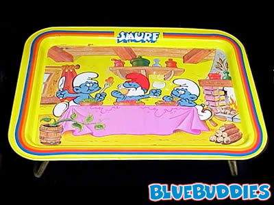 i think i also had a smurf lap and tv tray