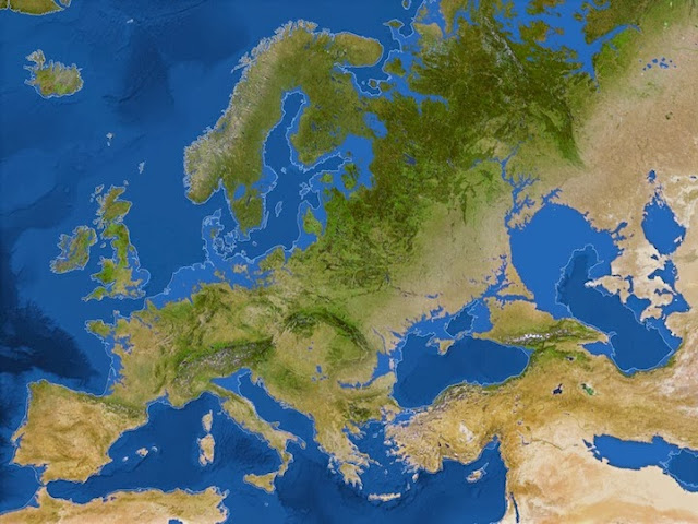 Mapas de como la Tierra se vería si todo el hielo se derritiera