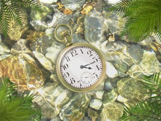 ساعة تحت الماء في جبل لؤلؤي. لسطح الكتب Underwater Clock