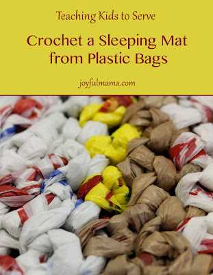 Crocheting For The Homeless : Joyful Mama: Crochet Sleeping Mats for the Homeless {teaching kids to ...
