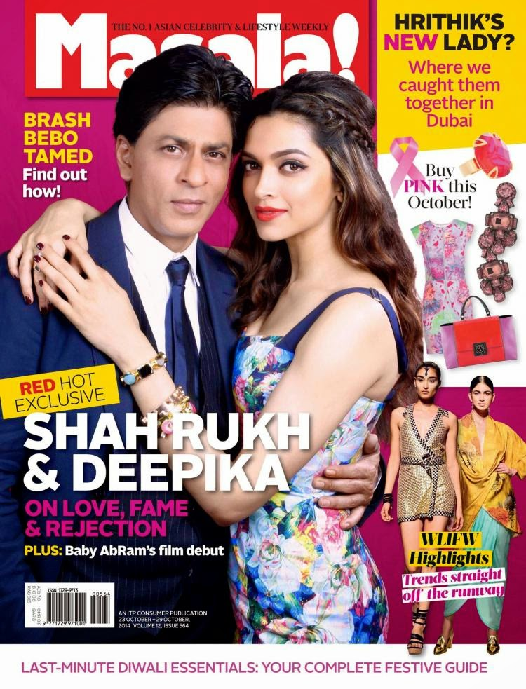 Shahrukh Khan and Deepika on the cover page of Masala!