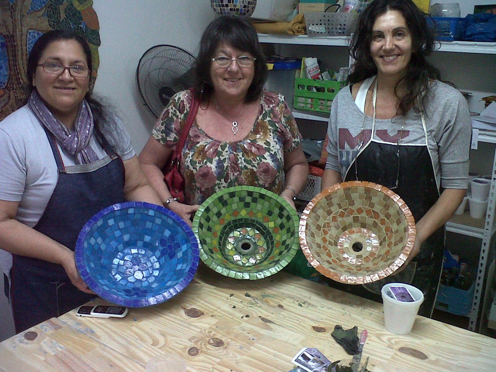 Bachas Para Baño Mosaiquismo:TALLER DE BACHAS SABADO 15 DE SPETIEMBRE