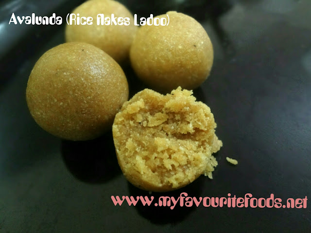 rice flakes Ladoo