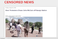 Dine' Chase Arizona Sen. John McCain off Navajo Nation