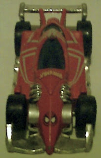 Top view of Spider-Man racing car