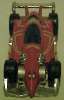 Top view of Spider-Man racing car