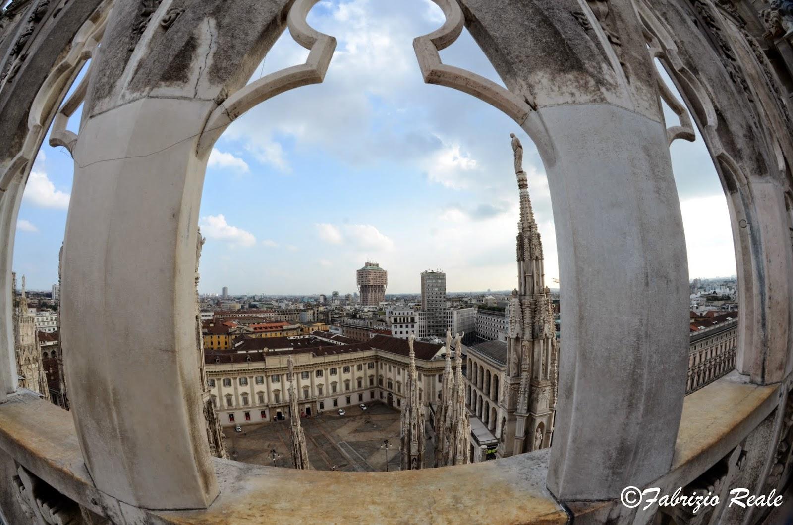 Milano vista dalla terrazza del duomo, con fish-eye | Fabrizio Reale ...