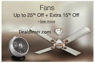 Fans upto 30% off + 15% off