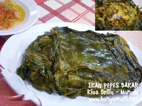 Kuliner Manado - Ikan Pepes Bakar di Brilia