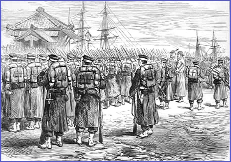 横浜から西南戦争に行く兵士達(Wiki) この戦争で亡くなった西郷軍の死者は、全て賊軍となりまし