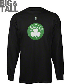 Big and Tall Boston Celtics Long Sleeve Shirt