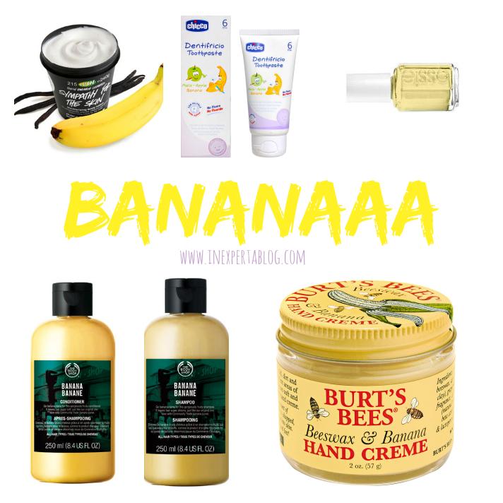 cosméticos banana platano minion favoritos amarillo