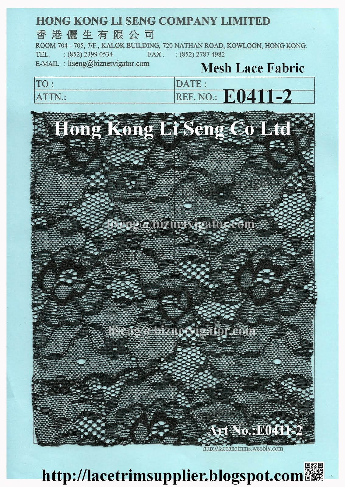Mesh Lace Fabric Factory Wholesaler and Supplier - Hong Kong Li Seng Co Ltd