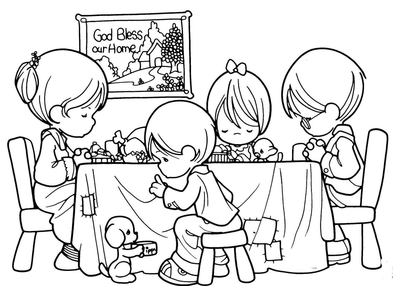 Cena navidena para dibujar