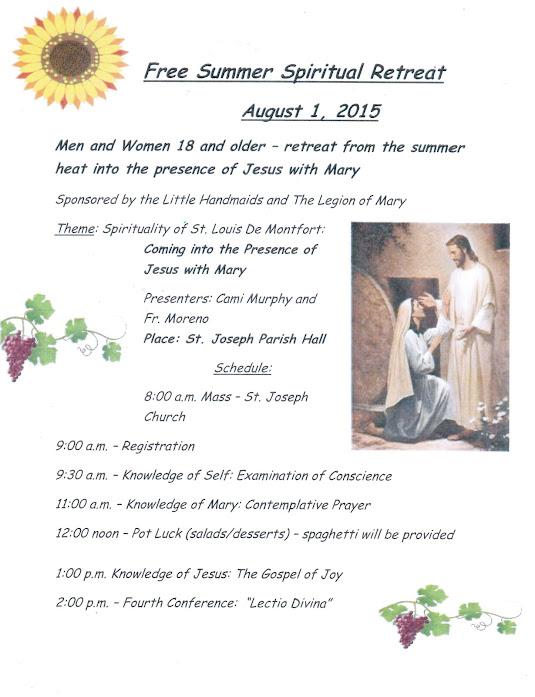 2015 Summer Spiritual Retreat
